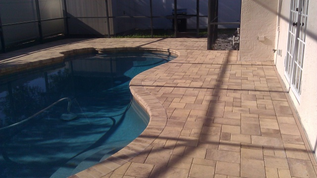 flagstone paver pool deck sealed with sealnlock