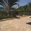 Tarpon Springs waterfront paver pool deck