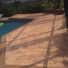 flagstone paver pool deck sealed