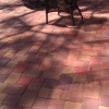 paver patio cleaned and sealed with SealnLock