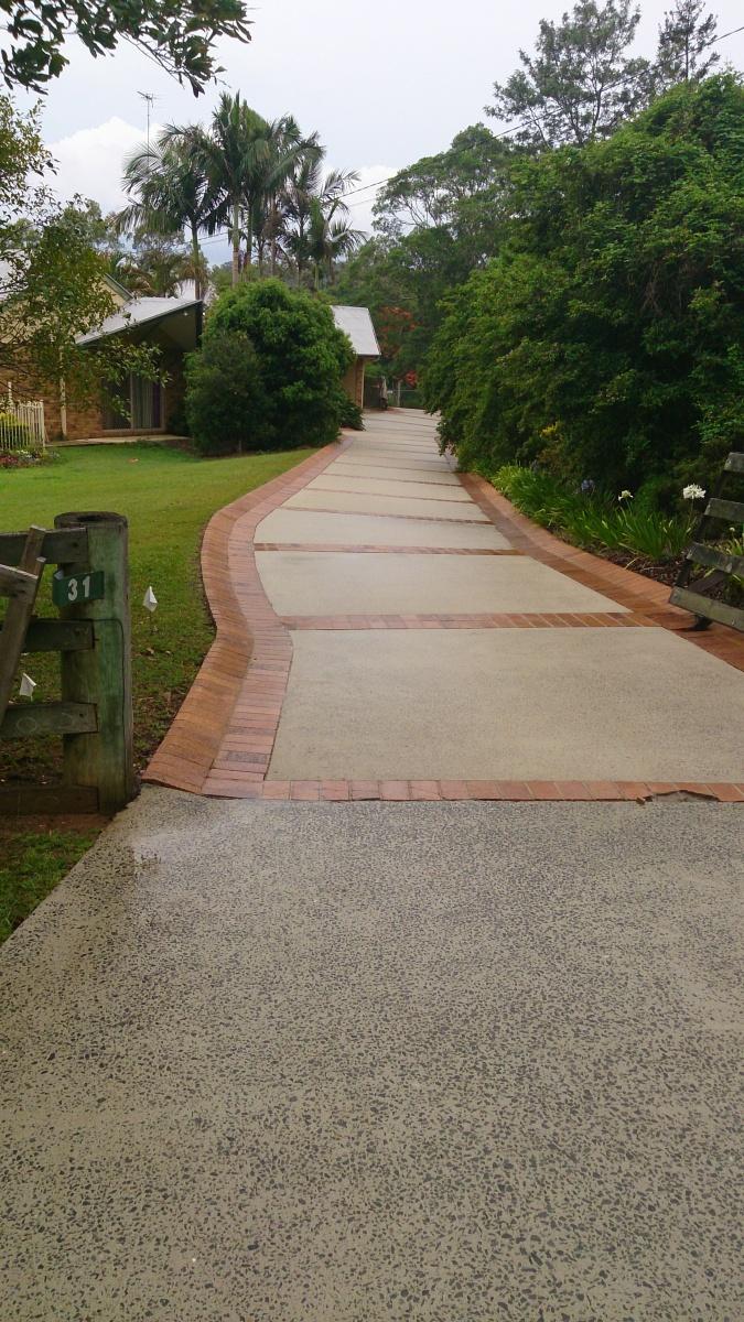 long concrete driveway - clean