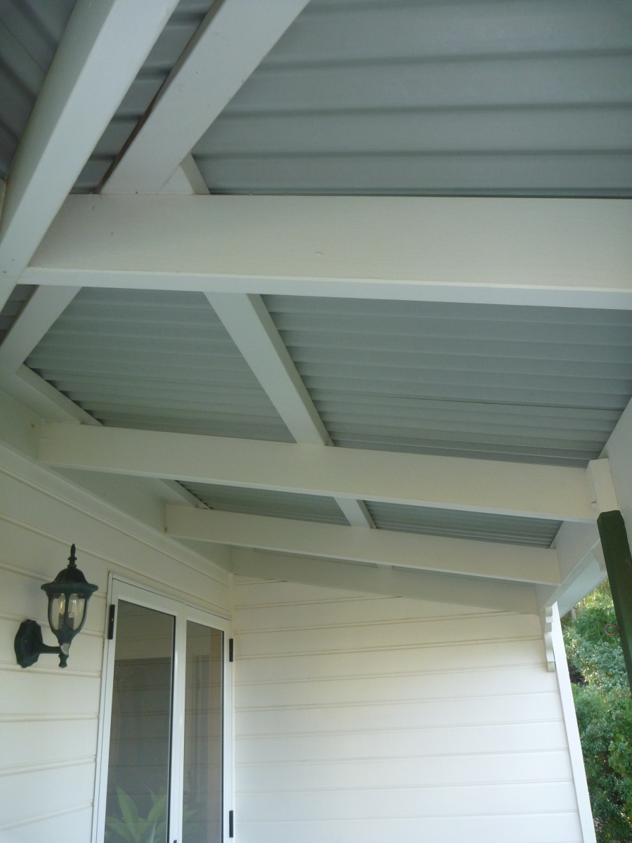 painted timber, verandah and walls - clean