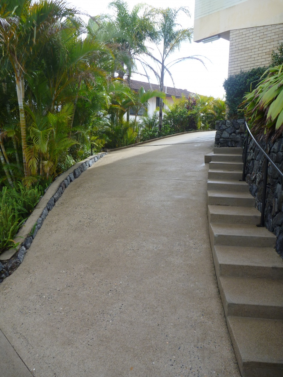 concrete driveway and stairs - clean