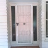 painted timber - house door and wall - clean