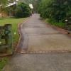 long concrete driveway - dirty