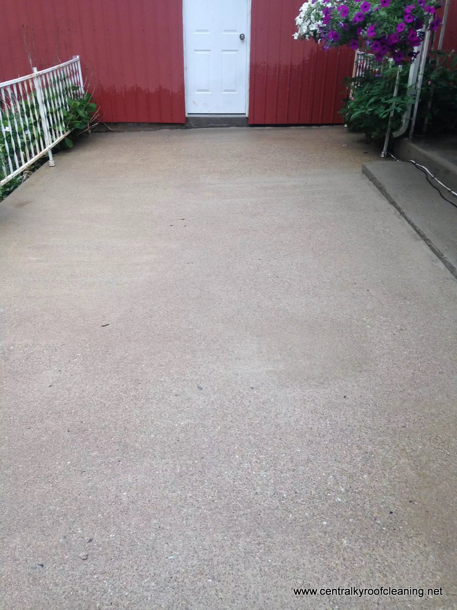 After patio cleaning