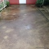 Before patio cleaning