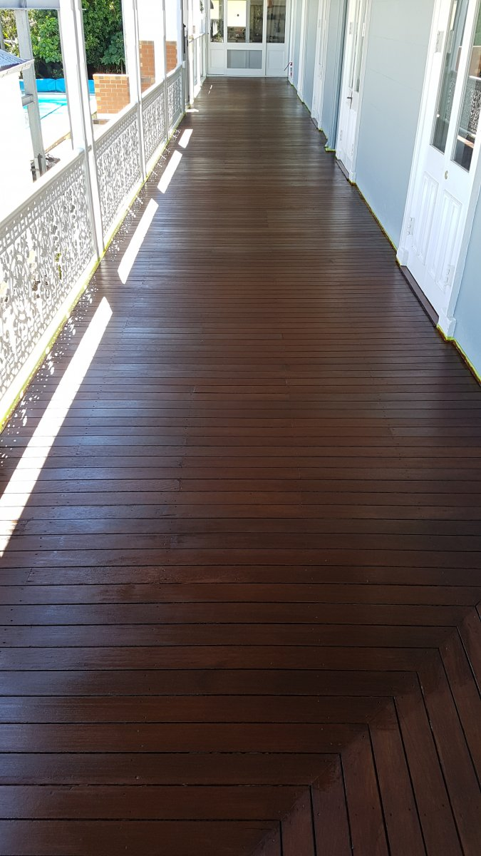 Old deck after 2 coats
